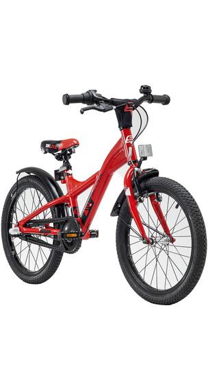 s'cool XXlite 18 3-S - Vélo enfant - alloy rouge/noir